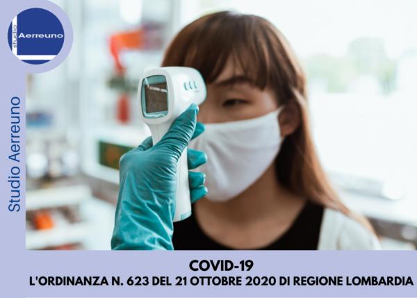 COVID-19: Regione Lombardia emana l'Ordinanza n. 623 del 21 Ottobre 2020